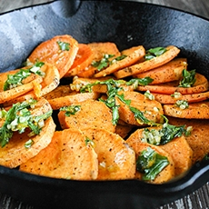Baked skillet sweet potatoes