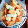 White and sweet potato hash