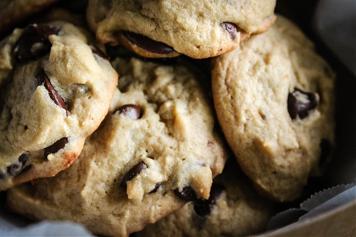 Butterscotch chocolate chunk and chip cookies