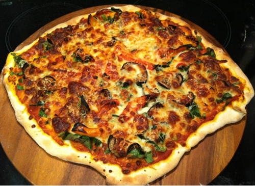 Mushroom and Spinach Pizza