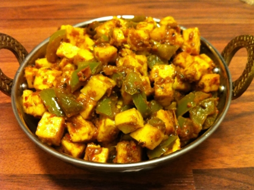 Paneer Capsicum Curry