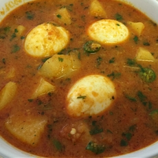 Coconut, Potato and Egg Curry