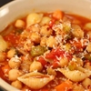 Chickpeas and Pasta Soup