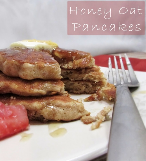 Honey Oat Pancakes