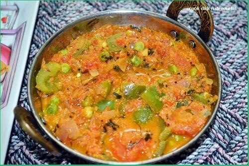 Peas capsicum masala