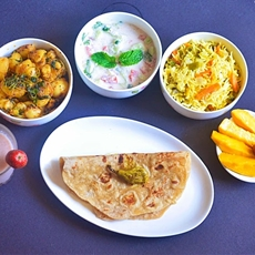 Express brunch 5-Chapathi,pulao,aloo methi rec