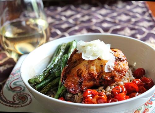 Roasted Red Bell Pepper & Garlic Chicken Recipe