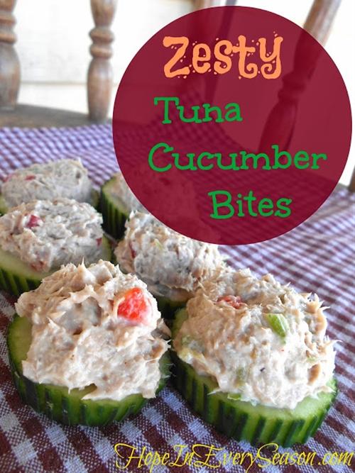 Zesty Tuna Cucumber Bites with Ocean Naturals Wild Premium Tuna