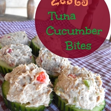 Zesty Tuna Cucumber Bites with Ocean Naturals Wild Premium Tuna
