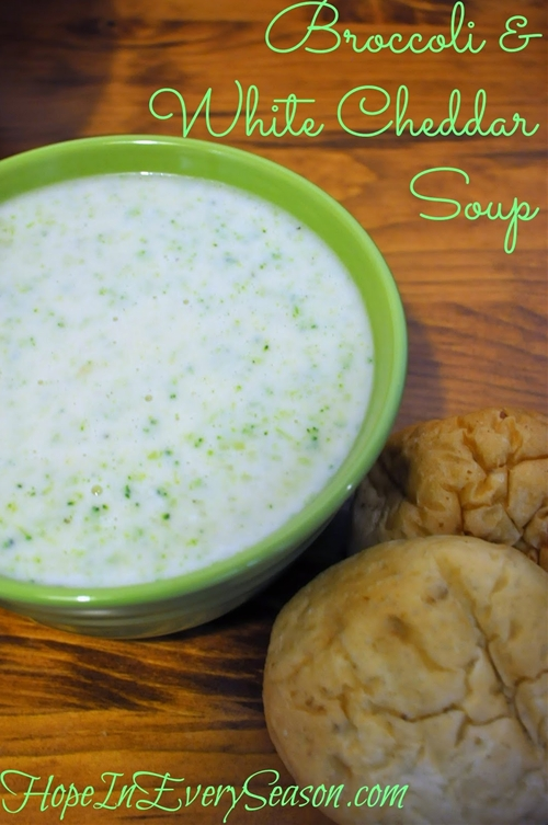 Broccoli & White Cheddar Soup