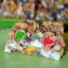 Fruity Rainbow Cereal Treats with Kelloggs Rice Krispies