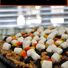 Sweet & Salty Fall Brownie Pizza