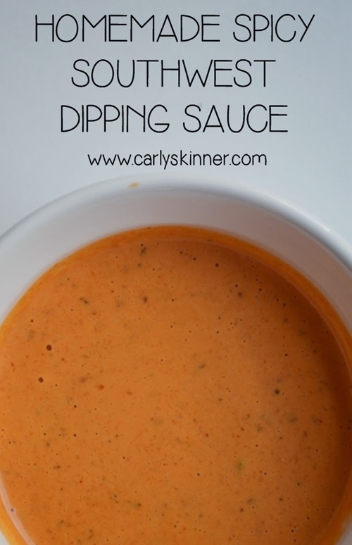 Homemade Spicy Southwest Dipping Sauce