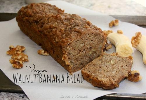 Vegan Walnut Banana Bread