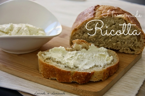 Amazingly Simple Homemade Ricotta