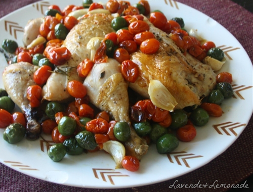 Holiday Roasted Olive & Tomato Chicken