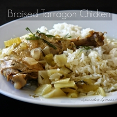 Braised Chicken with Tarragon