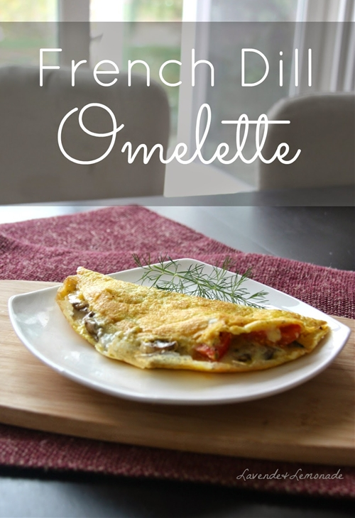 Cheesy French Dill Omelette