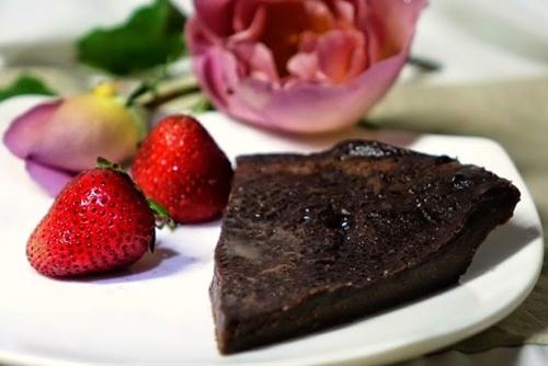 French chocolate tarte with dark chocolate ganache