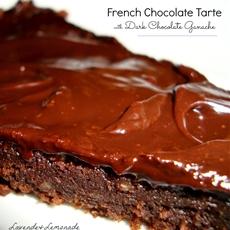 French chocolate tarte with dark chocolate ganache