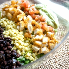 Tyson Panko Chicken Taco Salad with Avocado Vinaigrette