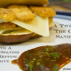 #AD A Twist On The Cuban Sandwich With A BBQ Spanish Spicy Dipping Sau
