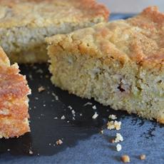 Rhubarb Cake with Cornmeal