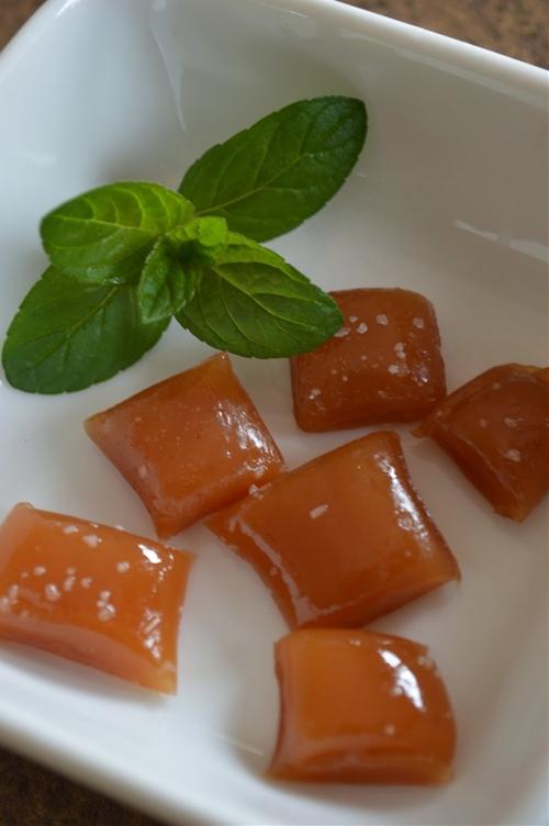 Garden Mint Honey Caramels