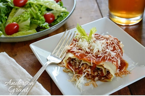 Simple Suppers...Lasagna Rollups
