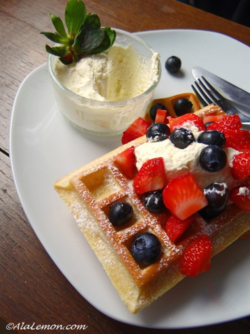 Waffles for breakfast
