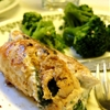 Nikos feta and spinach stuffed chicken