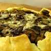 Rustic mushroom and blue cheese tart