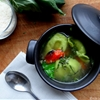 Roasted cherry tomato and spinach tortellini soup