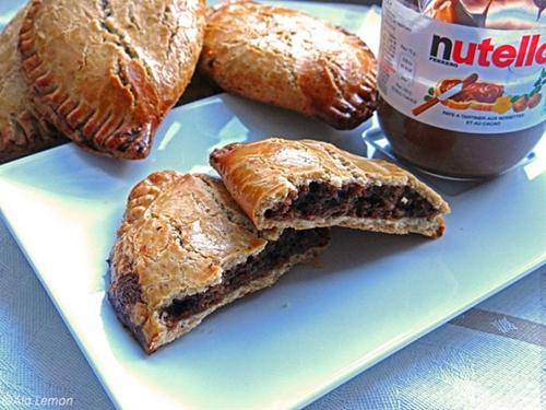 Nutella frangipane empanadas