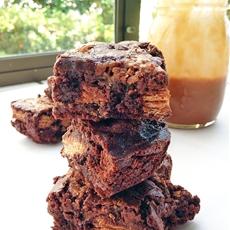 Caramel Kit Kat Brownies