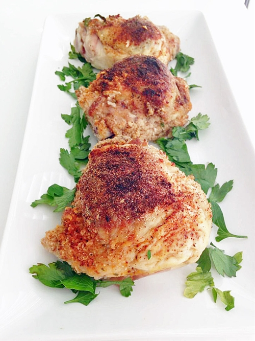 Lemon Herb Stuffed Chicken Thighs