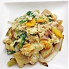 Prosciutto Scramble with Potato Hash