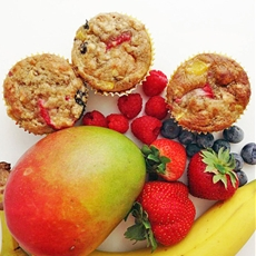 Healthy Smoothie Muffins