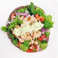 Salmon Tostada Salad