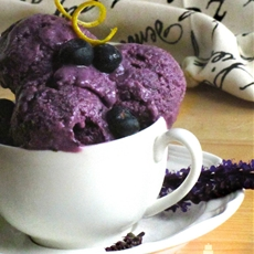 Honey Blueberry Basil Ice Cream