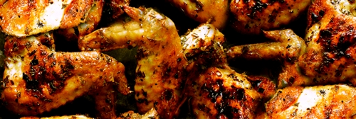 Grilled Wings: Spicy Thai sauce