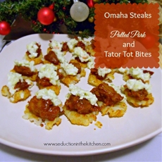 #Ad Omaha Steaks Pulled Pork and Tater Tot Bites #omahasteaksgifts