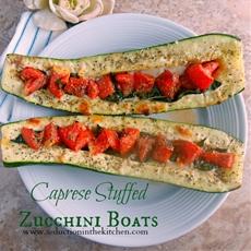 Caprese Stuffed Zucchini Boats