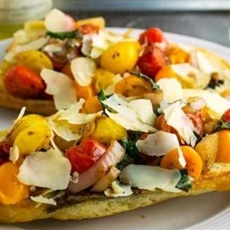 ?? Pan Seared Bruschetta {Bruschetta From Julie and Julia}