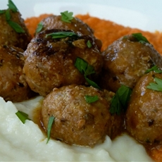 Turkey Meatballs, Cauliflower & Yams