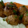 Turkey Meatballs, Cauliflower & Yams