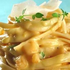 Pancetta Cantaloupe Cream Sauce Pasta