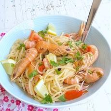 Scandalously Delicious Spicy Shrimp Pasta