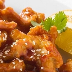 Fried Chicken with Honey and Sesame Seeds