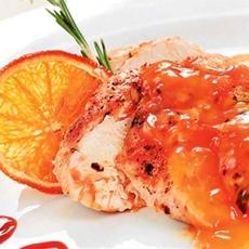 Grilled Chicken Breast with Orange Sauce
